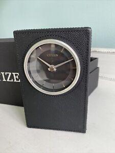 New Citizen Black Leather Desk Shelf Decorative Modern Clock Model CC1014 in box