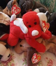 "TY Original BEANIE BABY ""SUGAR-PIE"" Cute Red Dog Plush Animal Toy"