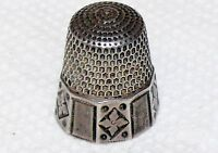 1890's Antique Sterling Silver 925 Thimble Goldsmith & Stern 10 Panel 4.9 Grams