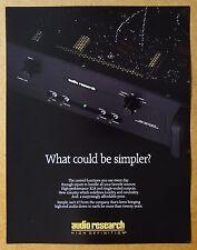 AUDIO RESEARCH Pre Amplifier LS2 VINTAGE Audio Brochure Catalog 1994 ~ ORIGINAL