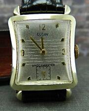 Vintage Elgin 559 Shockmaster 21J 14K Gold Filled Watch w/ New Leather Band