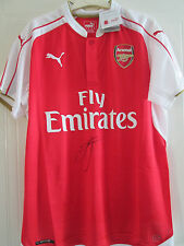 Jack Wilshere Signed Arsenal 2015-2016 Home Football Shirt proof & COA  /39362