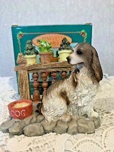 SPANIEL DOG IN GARDEN BY HARVEST HAMLET VINTAGE BOXED  PERFECT