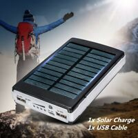 100000mAh Dual USB Portable Solar Power Bank Charger Battery For iPhone Android
