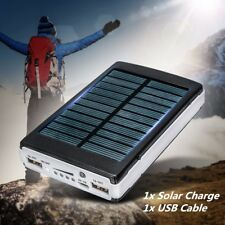 100000mAh Dual USB Portable Solar Power Bank Charger Battery For iPhone