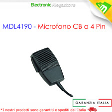 MIDLAND microfono CB MDL4190 4 poli per ricetrasmettitore CB ALAN 48 -68