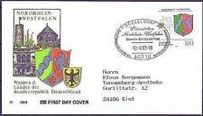 BRD 1993: Nordrhein-Westfalen! FDC Nr. 1663! Stempel Düsseldorf! Gelaufen! 1702
