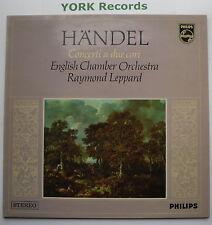 6882 004-Handel-conciertos una cámara inglés debido Cori Leppard o-ex Disco Lp
