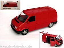 Furgoneta VW t4-modelo 1:43 - transportador-rojo-original VW-nuevo & OVP