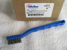 (1ea) Weiler 44075 Stainless Steel 3 x7  Plastic Blue Small Hand Scratch Brush