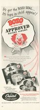 1950 Capitol Records Print Ad features: Bozo the Capitol Clown Approved