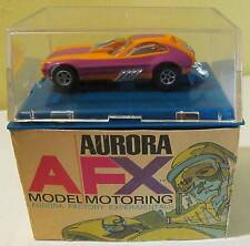 AFX Pinto Funny Car in Orange with Violet, with Repro Cardboard Base Box