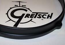 "Gretsch USA Drum Hoop Die Cast Satin Black Finish 14"" 8 Hole Snare Side"