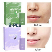 Green Tea Purifying Clay Stick Mask Oil Control Anti-Acne Eggplant Solid Fine UK