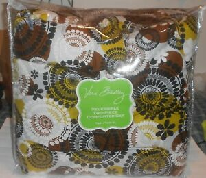 NWT Vera Bradley Cocoa Moss Reversible Two-Piece Comforter Set Twin/Twin XL