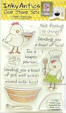 Inky Antics Chicken Soup HoneyPop Set 11170MC Get Well Clear Cling Stamps