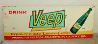 New Vintage Style VEEP Coca Cola Co Signs Distressed Look Man Cave Country Store
