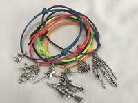 6 HALLOWEEN BRACELETS TRICK OR TREAT SPOOKY PARTY BAG FILLERS PRIZE FAVORS GIFT