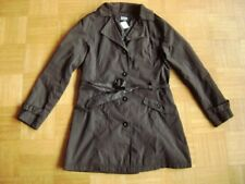 @ Elle Nor @ Trenchcoat Mantel schwarz Gr. 36/38 Size S/M leicht ungefüttert