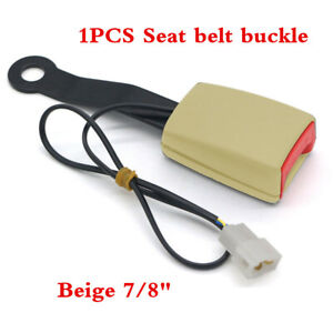 """7/8"""" Camlock Car Front Seat Belt Buckle Padding Socket Plug Connector with Cable"""