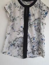ladies white oriental style top DOROTHY PERKINS size 12