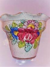 Italian Folk Art Hand Painted Floral Design Planter/Pot (#677/2)