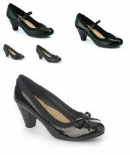 Unbranded Patternless Mary Janes Block Heels for Women