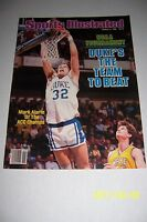 1986 Sports Illustrated DUKE BLUE Devils ACC Champions NO LABEL Mark ALARIE NCAA