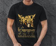 Black Sabbath 50th anniversary signatures Black Men S-234XL T-shirt F1474