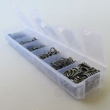 Jump Rings Gunmetal 1500PCs Mix - 7 Assorted Sizes In Plastic Storage Box