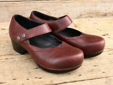 Dansko Tandy Brown Mary Jane Clogs Size 40