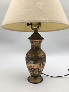 Vintage Egyptian Metal weighted Lamp