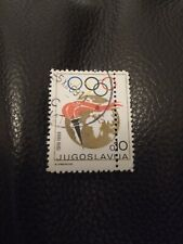 More details for rare yugoslavia error stamp 1969 olympic misprint philately collectable postage