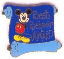 MICKEY BEST BEHAVIOR AWARD Blue SCROLL Disney EPCOT PIN EVENT 2001