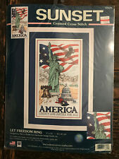 Dimensions Sunset Cross Stitch 13694 Let Freedom Ring Patriotic America USA 2001