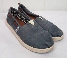 Toms Classic Blue Chambray Denim Bimini Shoes Mens size 5