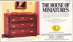 The House of Miniatures Chippendale 3 Drawer Chest Circa 1750-1790 Unused