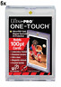 5 ULTRA PRO One Touch Magnetic Holders 100pt UV Gold Magnet New