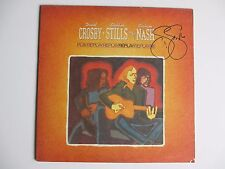 STEPHEN STILLS SIGNED CROSBY STILLS & NASH REPLAY VINYL RECORD LP DC/COA RARE