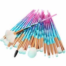 20PCS Unicorn Diamond Mermaid Make up Brushes Set Powder Foundation Contour Hot