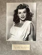 Paulette Goddard- Signature Matted Nicely