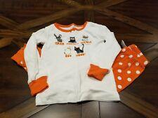 Gymboree Long Sleeved Pants Pajamas Orange Cats Halloween Size 3
