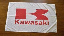 KAWASAKI BANNER GREEN FLAG 3X5FT MOTORCYCLE DIRT BIKE JET SKI 4 WHEELER