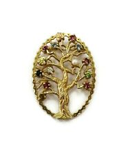 10K Yellow Gold Tree of Life Pin Brooch ~ 5.7