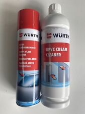 **WÜRTH ULTIMATE CLEANING KIT GLASS CLEANER WINDOW SMOOTH FOAM & UPVC CLEANER*