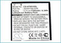 35H00166-02M Battery For HTC AMAZE 4G, PH85110, Ruby (1700mAh)