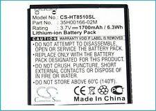 35H00166-02M Battery For HTC AMAZE 4G, PH85110, Ruby (1700mAh)