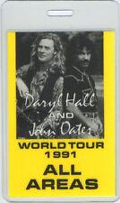 HALL & OATES 1991 LAMINATED BACKSTAGE PASS