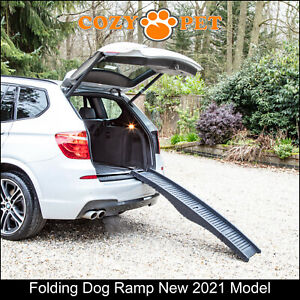 Dog Car Ramp by Cozy Pet, Folding, Puppy Portable, Cage New 2021 Model DCR01