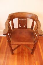 VERY RARE ROBERT THOMPSON 1935 MONK CARVERS- Early Mouseman Hand-carved Chairs